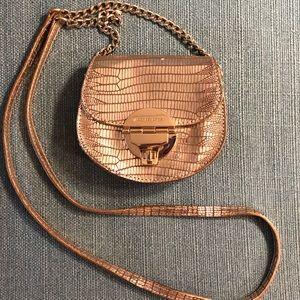 Rare Snake Skin Michael Kors Gold Crossbody Bag